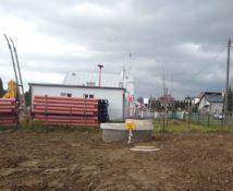 Teren budowy kanalizacji w Łazach Dębowieckich